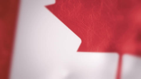 Slow Motion Canadian Flag Intro Stock Video Footage