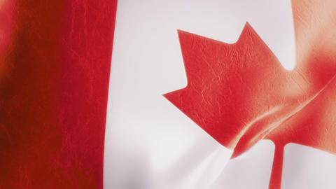 Slow Motion Canadian Flag Intro Animation