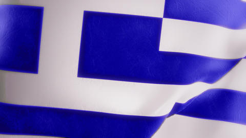 Slow Motion Greek Flag Intro Stock Video Footage