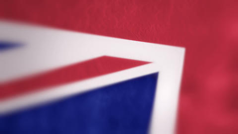 Slow Motion British Flag Intro Stock Video Footage