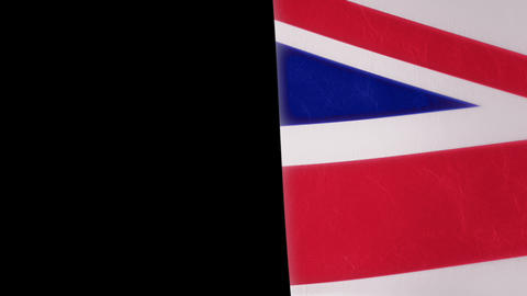 Slow Motion British Flag Intro Stock Video Footage