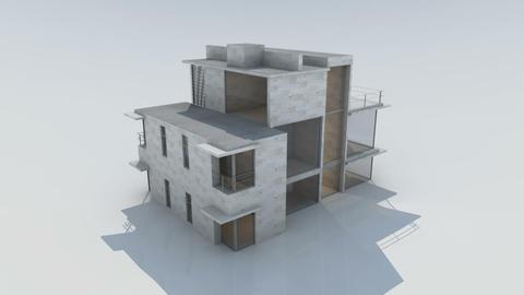 house dusk Animation