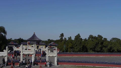 Beijing worship altar,China's royal ancient architecture Stock Video Footage