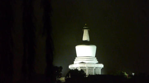 China Beijing ancient Chinese architecture White Tower at... Stock Video Footage