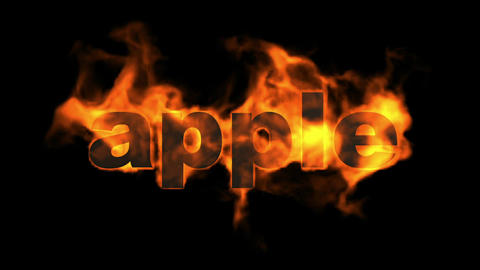 apple,fire word Animation