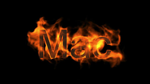 Mac,fire word Stock Video Footage