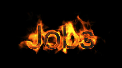 jobs,fire word Stock Video Footage