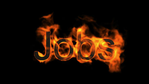 jobs,fire word Animation