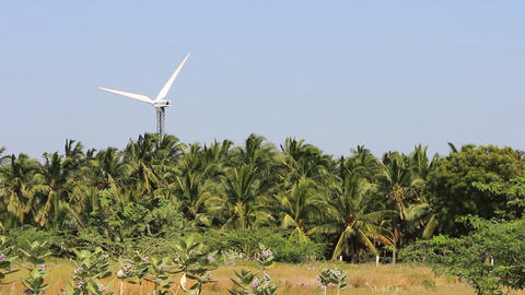 Energy alternatives 5. Wind farm in Indian province of Kerala Footage