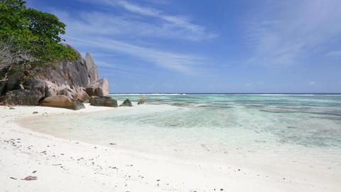 Anse Source D'Argent Beach, Seychelles Footage
