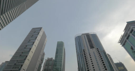 Skyscrapers and construction in Kuala Lumpur, Malaysia Footage