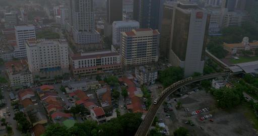 Railway transport and cityscape of Kuala Lumpur, Malaysia Footage