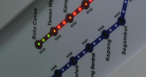 Integrated rail system of Kuala Lumpur, Malaysia Footage
