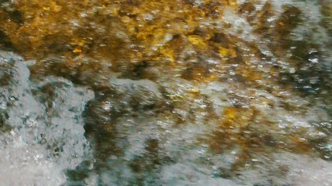 Turbulent water of stream or river Footage