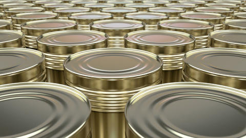 Canned food looping 3D animation Animation