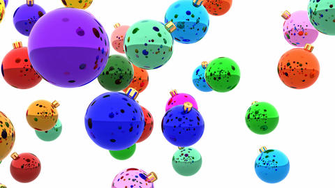 Colorful christmas balls looping 3D animation Animation