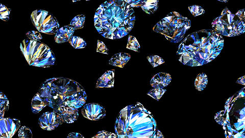 Diamonds 3D looping animation CG動画素材