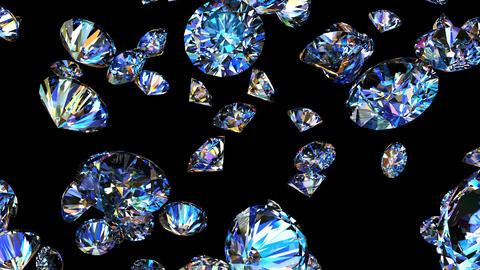 Diamonds 3D looping animation Animation