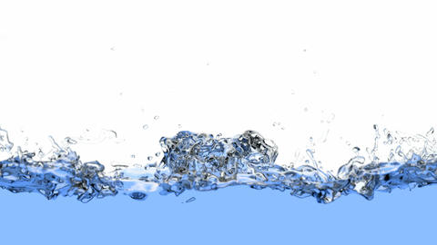 Realistic 3D animation of the water Animation