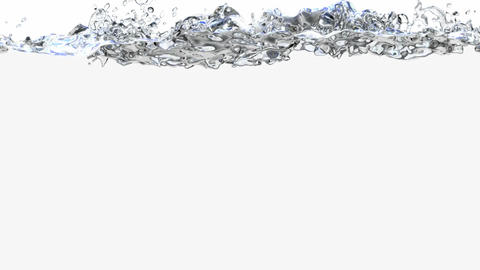 3D animation of the splashing water Animation