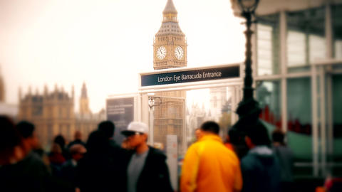 London. Summer. Big Ben. Middle and close-up. View of the... Stock Video Footage