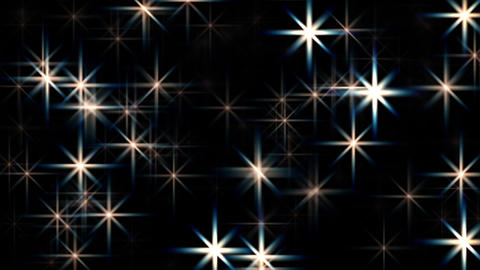 Large abstract twinkling stars motion background loop Animation