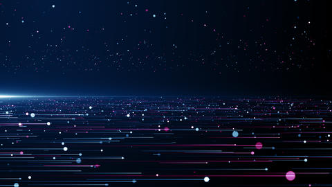 Particles blue pink event game trailer titles cinematic concert stage background loop Animation