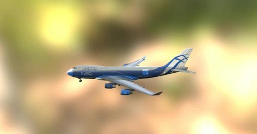 Boeing 747 erf 3D Model