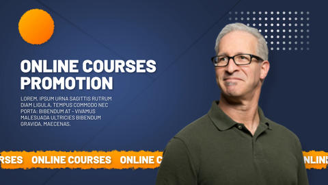 Online Courses Promotion After Effects Template