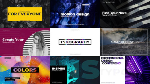 Stylish Typography Apple Motion Template