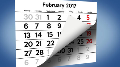 Calendar 2017 passing pages Stock Video Footage