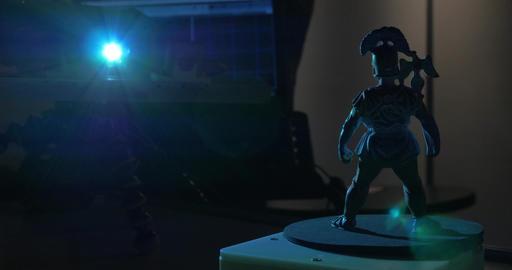 Scanning of figurine to make 3D model Footage
