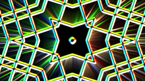 Chromatic Alien Grid Kaleidoscope Psychedelic Abstract Motion Background Loop 1 Animation