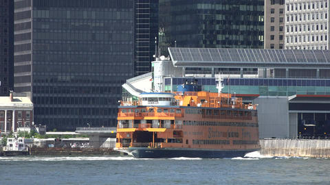 Staten Island Ferry And Port Live Action