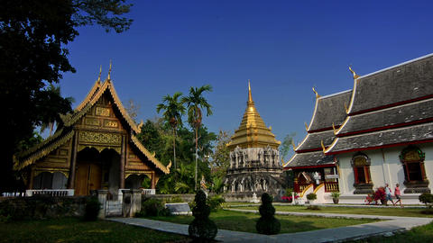 Wat Chiang Man temple Footage