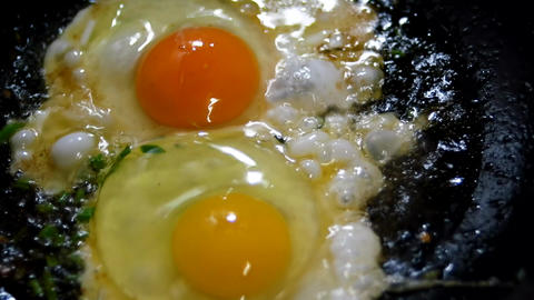 Eggs sunny side down Footage