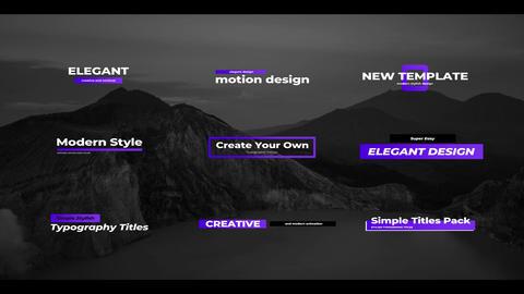 Simple Creative Titles Apple Motion Template