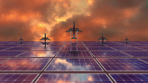 Solar Panel And Airplane Animations 1