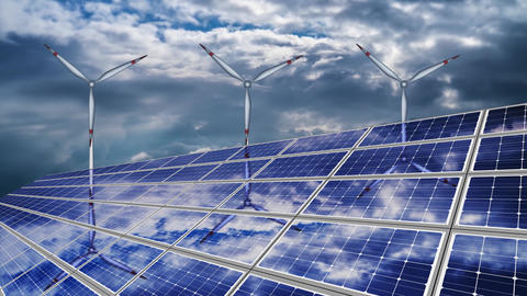 Solar Panel And Airplane Animations 2
