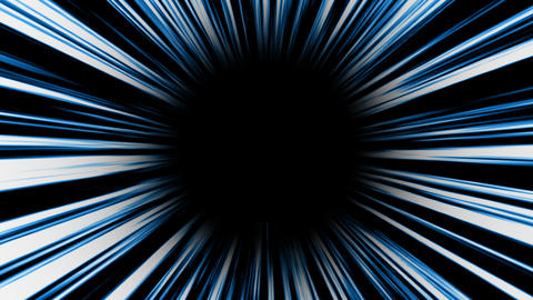 Animation of blue high-speed radial background.Footage Animation