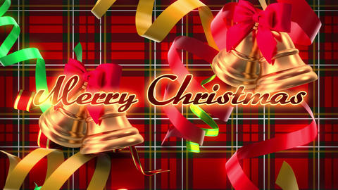 Festive Christmas logo text with decorations Animation