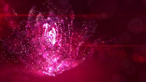 SHA Particle Flower BG Pink CG動画