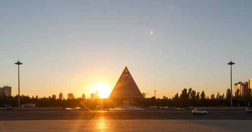 Astana, Kazakhstan - September 4, 2016: Palace of Peace and Reconciliation at su Footage