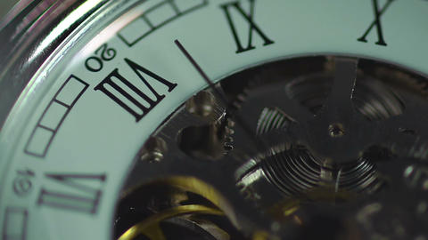 Clock, eternal mechanism. Time passing quickly. The history of human life Footage