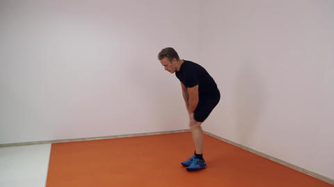 Athlete warming up before a workout Footage