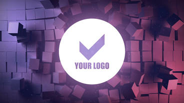 Break cubes wall logo reveal After Effects Templates