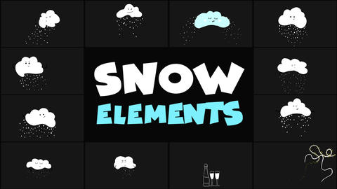 Cartoon Snow Clouds After Effects Template