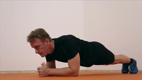 Athlete doing pushups Footage