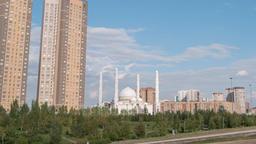 Hazrat Sultan Mosque. Almaty, Kazakhstan. TimeLapse Footage