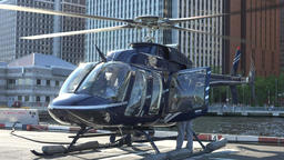 Helicopter On Helipad Live Action